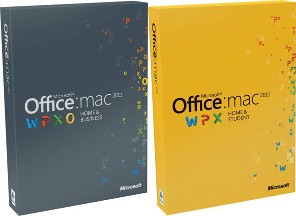 Imagen de las carpetas en las que se vende Office para Mac en su edición Business y Student