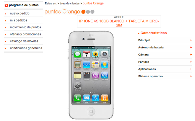 Tarifas Orange iPhone 4S